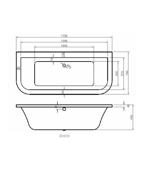 Technical drawing 34609 / BH018S1