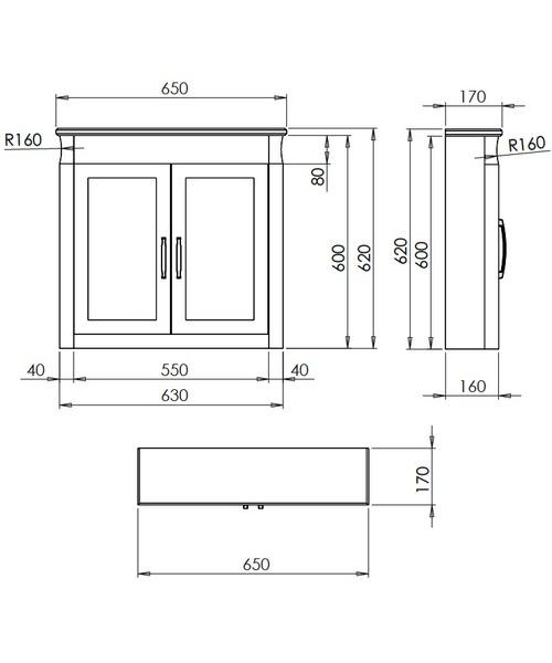 Technical drawing 10145 / XWB0110042