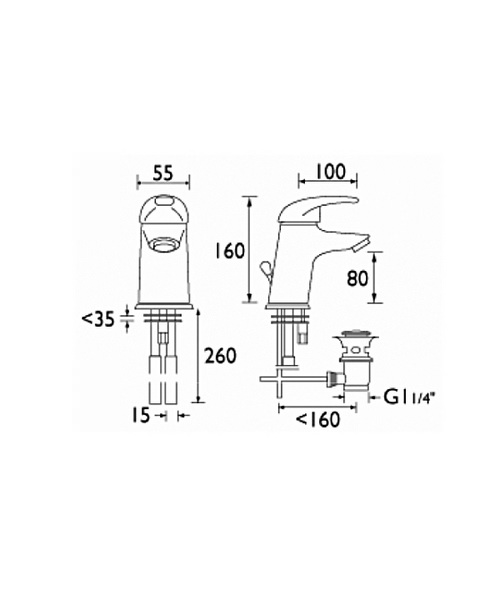Technical drawing 1090 / J BASSW C