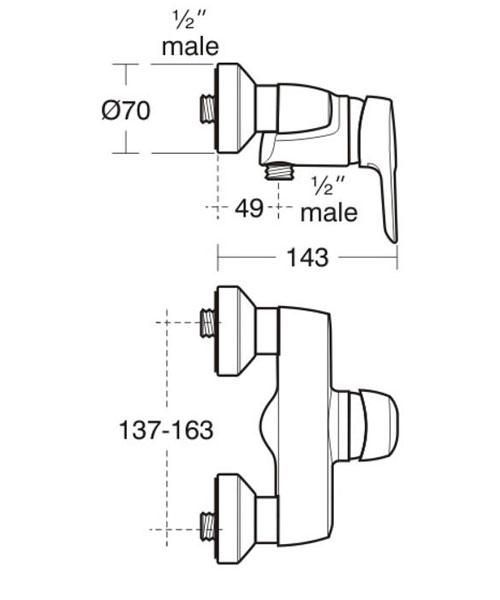 Technical drawing 11525 / B9493AA