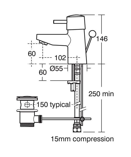 Technical drawing 11541 / B5107AA