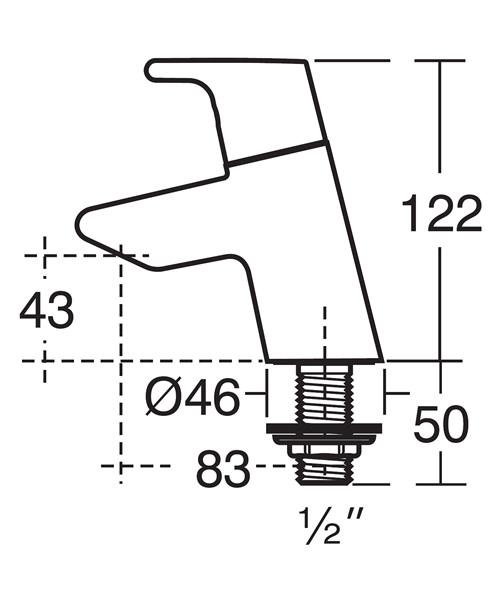 Technical drawing 11552 / B8074AA