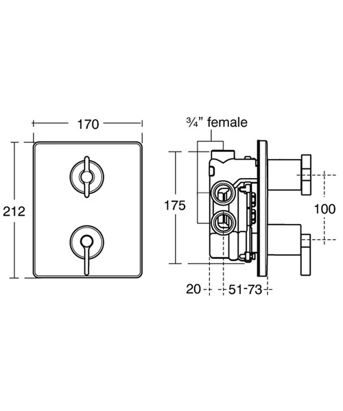 Technical drawing 11582 / A3642AA