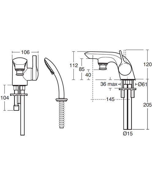 Technical drawing 11590 / A4278AA