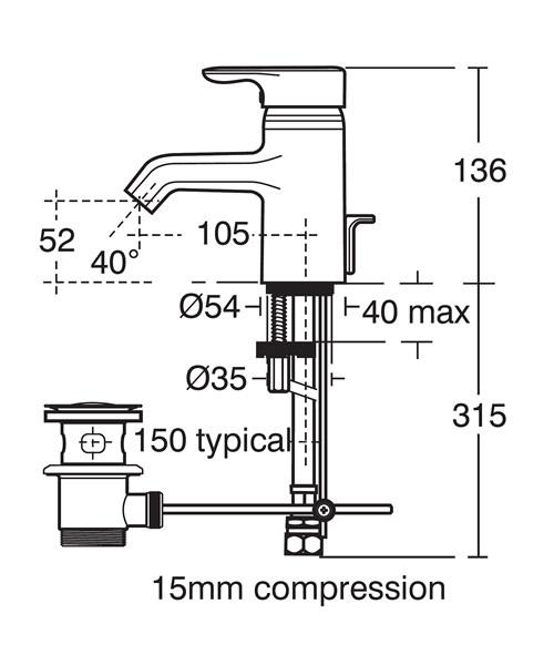 Technical drawing 11593 / E6396AA