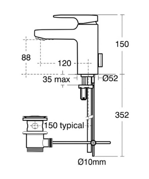 Technical drawing 11602 / A3909AA