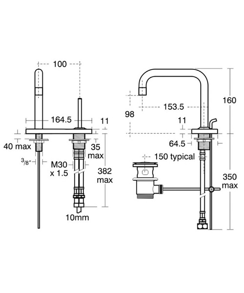 Technical drawing 11614 / A4486AA