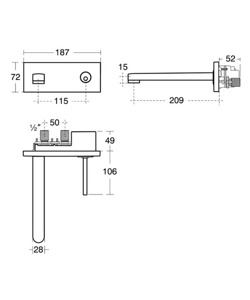 Technical drawing 11622 / A4483AA
