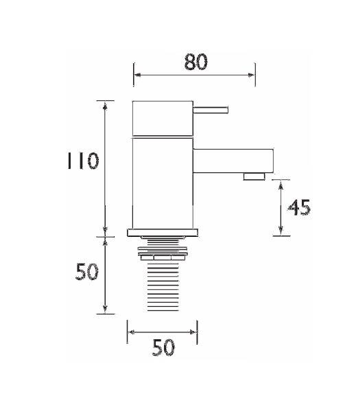Technical drawing 1220 / QD 1/2 C