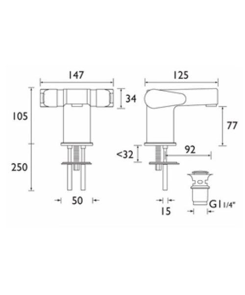 Technical drawing 1244 / QST BAS2 C