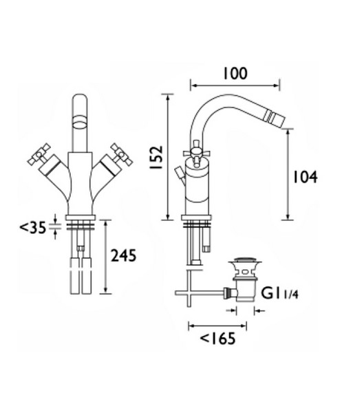 Technical drawing 1250 / RO BID C