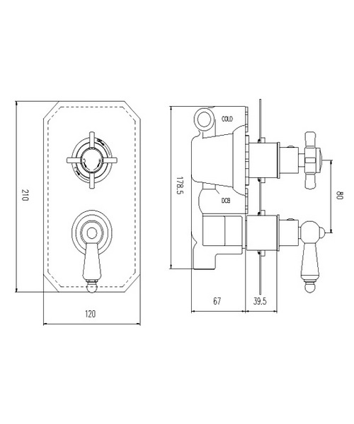 Technical drawing 12603 / A3033