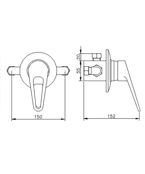 Technical drawing 12613 / A3200