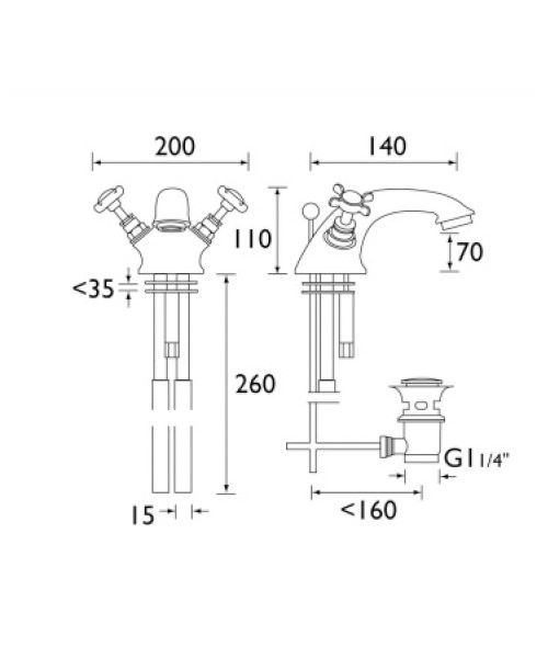 Technical drawing 1265 / N BAS C CD
