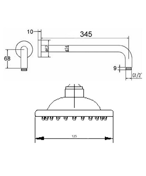 Technical drawing 12667 / A304