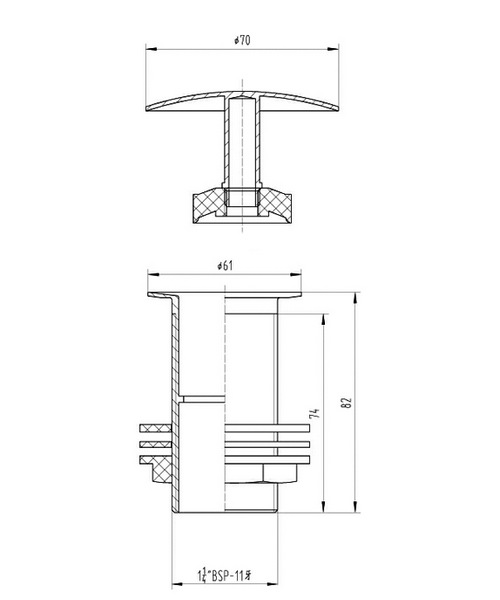 Technical drawing 12752 / EK305