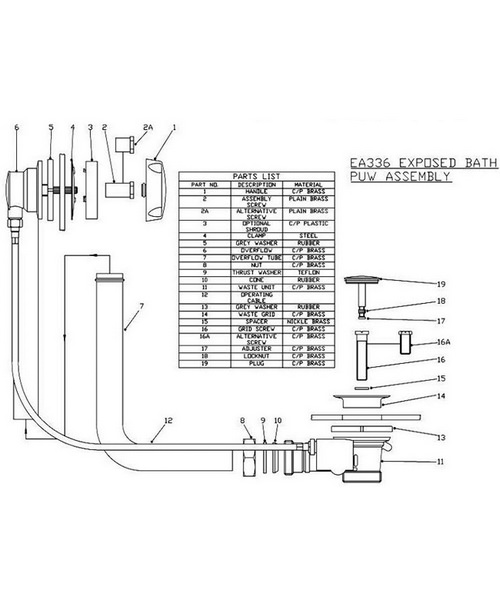 Technical drawing 12774 / EA336