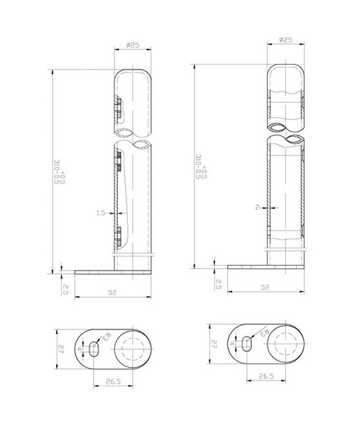 Technical drawing 12855 / HX300