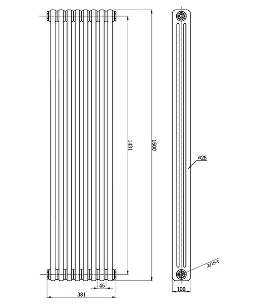 Technical drawing 12858 / HX309