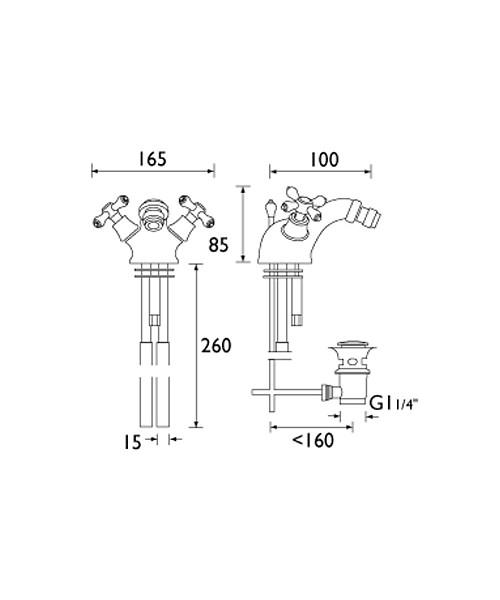 Technical drawing 1290 / K BID G