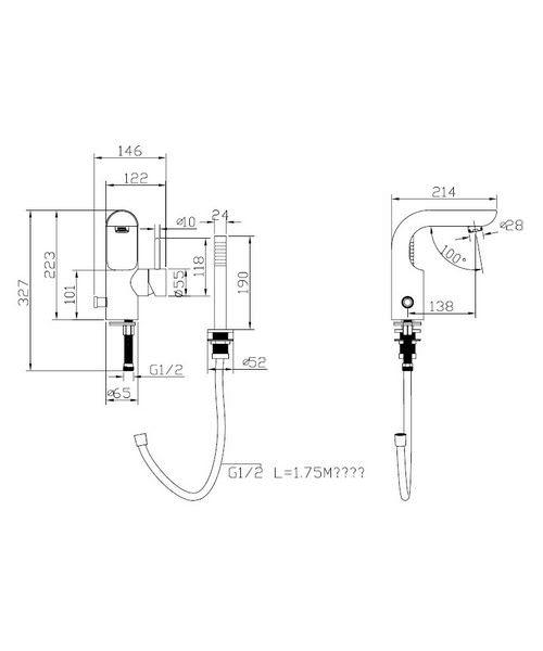 Technical drawing 13007 / EL410DC