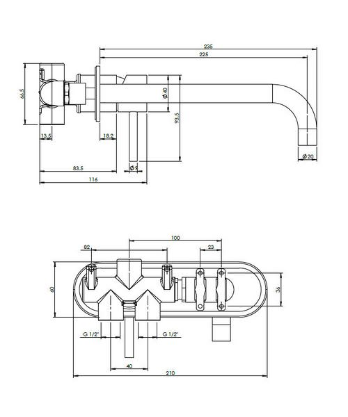 Technical drawing 13019 / CE121WNC