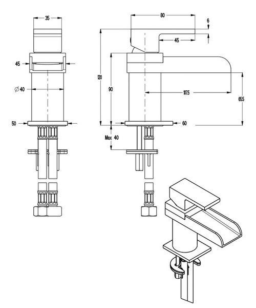 Technical drawing 13035 / WS114DNC