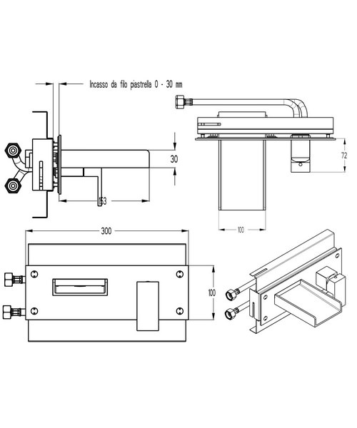 Technical drawing 13038 / WS321WC