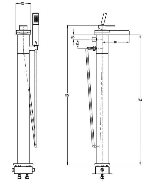 Technical drawing 13040 / WS415FC