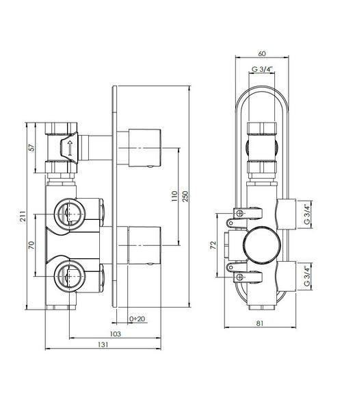 Technical drawing 13062 / CE1000RC+