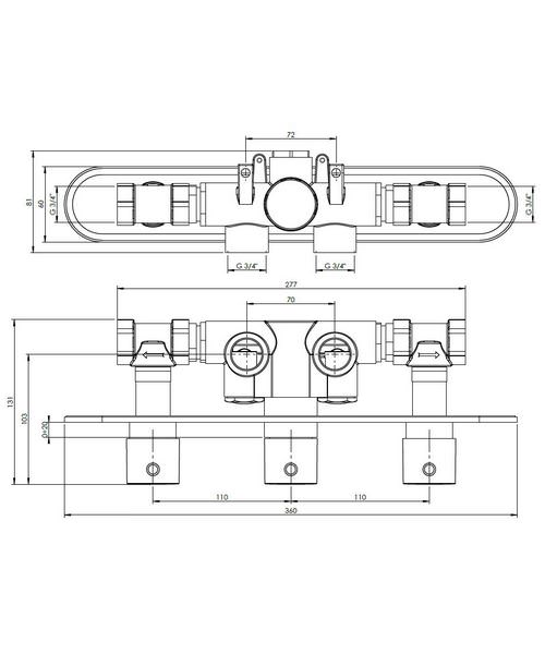 Technical drawing 13065 / CE2001RC+