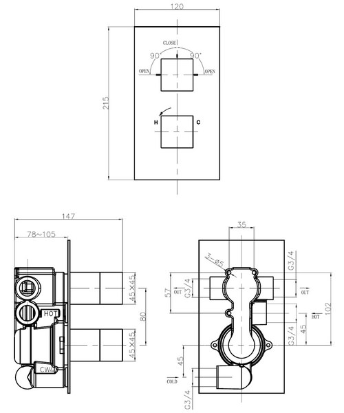 Technical drawing 13080 / WS1500RC