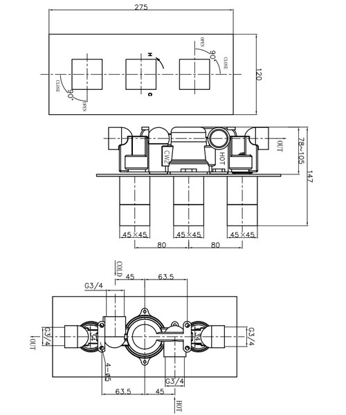 Technical drawing 13082 / WS2000RC