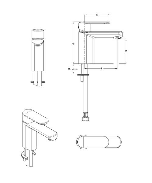 Technical drawing 13083 / VO110DNC