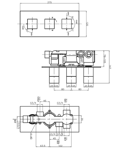 Technical drawing 13085 / WS3001RC