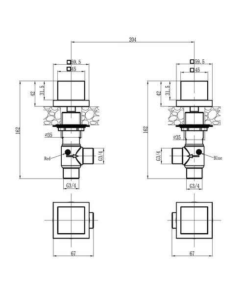 Technical drawing 13086 / WS350DC