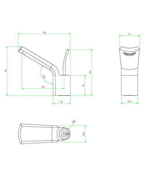 Technical drawing 13109 / GL110DNC