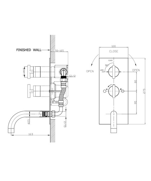Technical drawing 13115 / GL1600RC