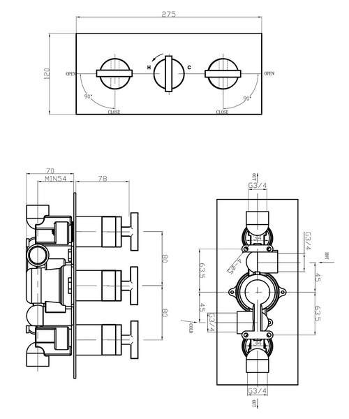 Technical drawing 13117 / GL2001RC