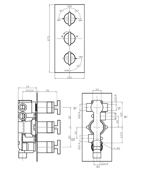 Technical drawing 13118 / GL3000RC