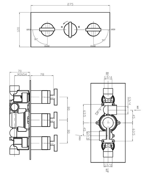 Technical drawing 13119 / GL3001RC