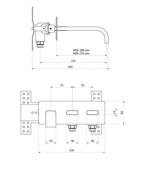 Technical drawing 13173 / EE121WC