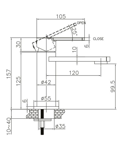 Technical drawing 13180 / WP110DNC