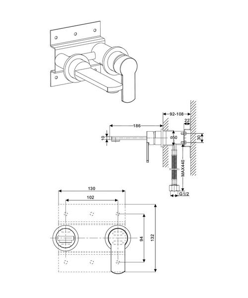 Technical drawing 13182 / WP120WNC