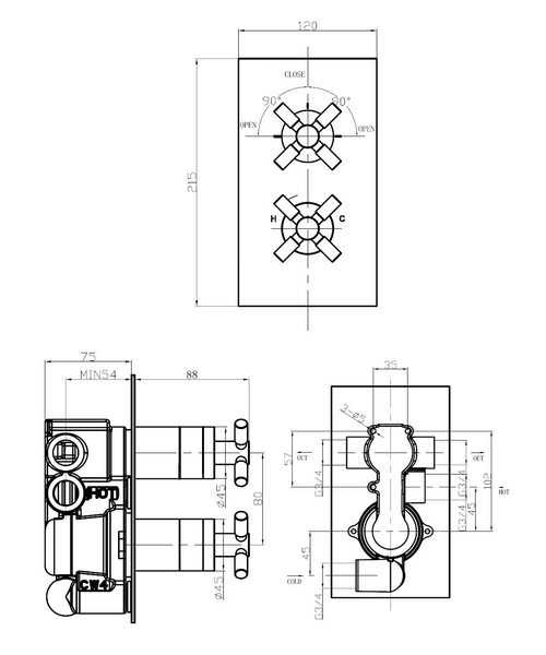 Technical drawing 13272 / TO1500RC
