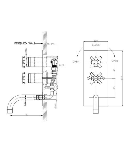 Technical drawing 13273 / TO1600RC