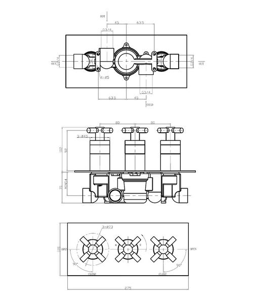 Technical drawing 13275 / TO2001RC