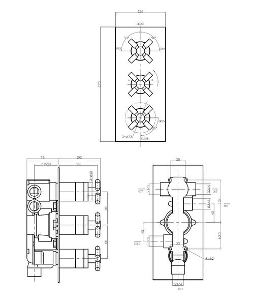 Technical drawing 13277 / TO3000RC