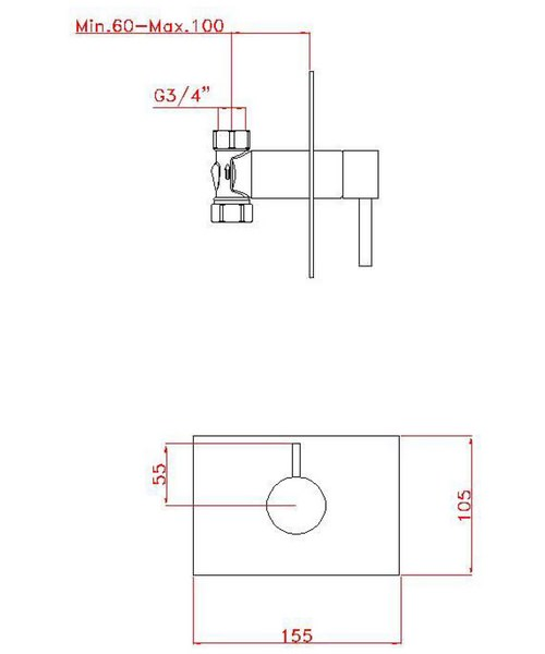 Technical drawing 13298 / KL0001RC
