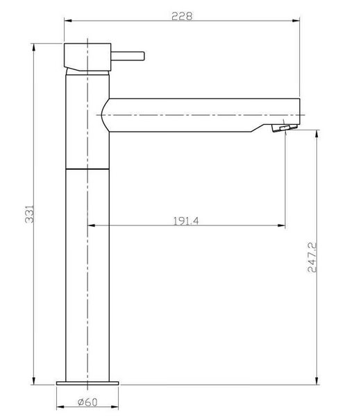 Technical drawing 13306 / KL116DNC
